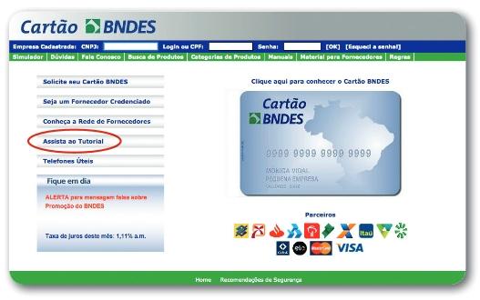 Website - Cartão BNDES